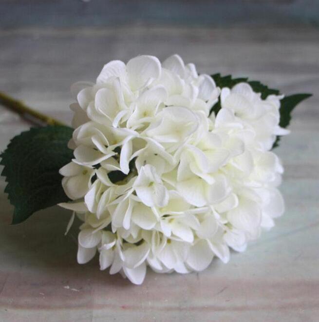 Artificiale fiore di ortensia 47 centimetri falso seta singolo tocco reale ortensie centrotavola matrimonio fiori decorativi festa in casa GA15