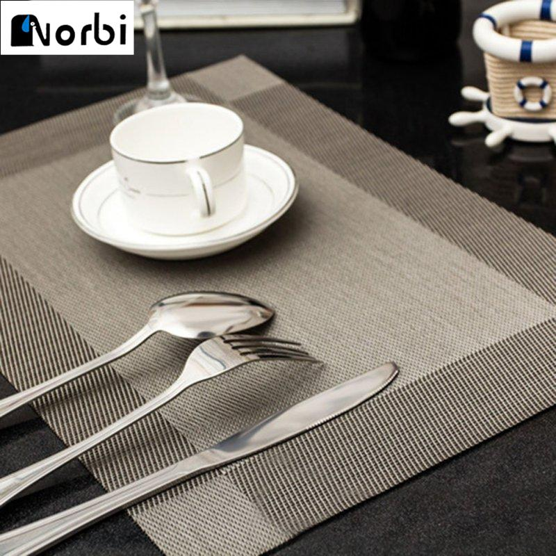 Placemat PVC Dining Table Mat Pads Bowl Pad Waterproof Slip Resistant Decoration Accessories