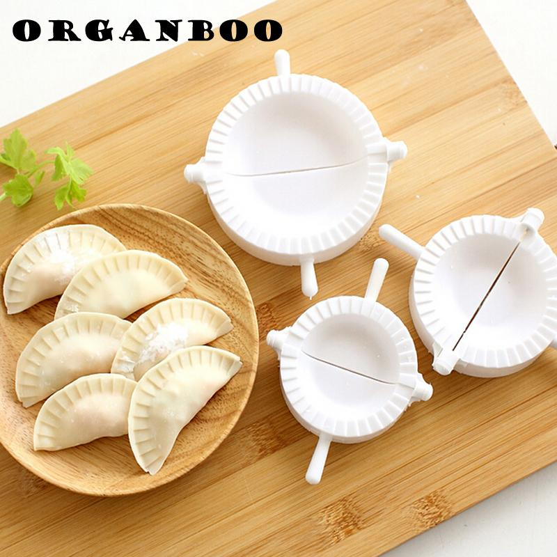3pcs/set Dumpling Maker Gyoza Mold Dumpling Mould Dough Press 3 Size Ravioli Dough Pastry Pie White Color