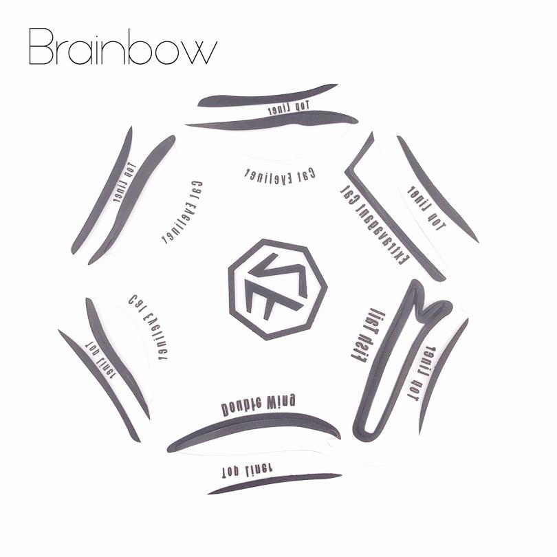 picture regarding Printable Eyebrow Stencil titled Brainbow 6 Style and design inside of 1 Cosmetics Eyeshadow Cat Smokey Eye Stencils Eyebrow Stencil Shadow Designs Template City Confront Make-up Applications