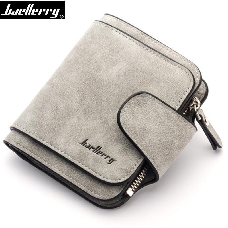 fbef60228feb Baellerry Fashion Women Short Wallet Top PU Leather Female Purses Card  Holder Ladies Small Wallet Coin Pocket Bag Carteras Filson Wallet Green  Wallet From ...