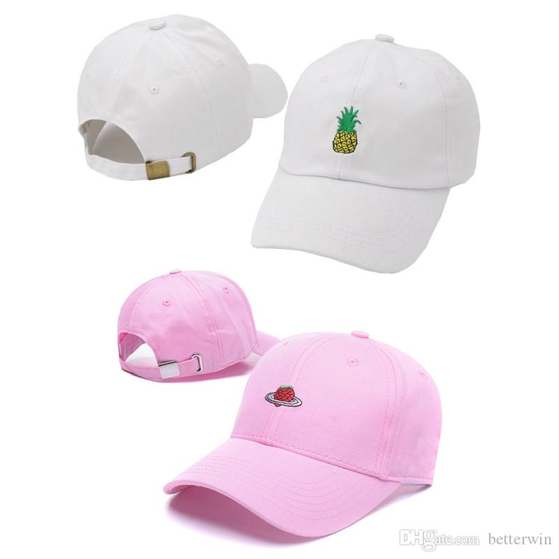 0c771f570b3 SINGYOU Pineapple Strawberry Embroidery Baseball Cap Men Women ...