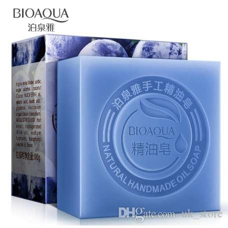 BIOAQUA Natural Blueberry Essential Oils Handmade Soap Whitening Skin Remove Acne Cleaning Dirt Anti Aging Men/women Skin Care