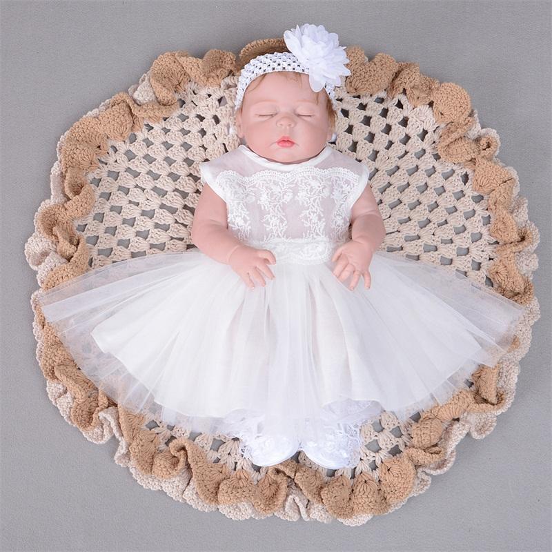 9dd4341a7aaac Compre Dropshipping Lindo Vestido Para Niñas Niñas Vestido De Arco Recién  Nacido Bebé Niña Con Flores Cabeza Con Cordones Para Bebés A  27.9 Del  Orchidor ...