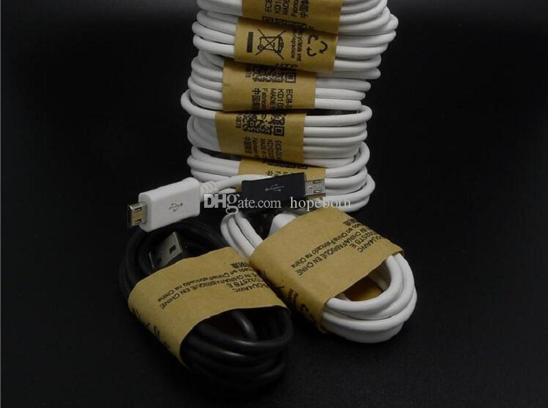 Wholesale price White Black 1m 3FT OD 3.4MM Micro V8 usb data sync charger cable adapter for samsung s3 s4 s6 blackberry htc lg