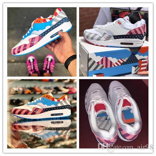 65386453b6e81 Newest Maxes 1 Piet X Parra Men Women Running Shoes Multi Rainbow ...