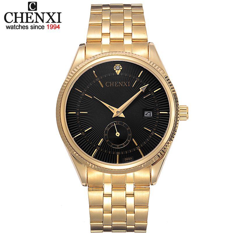 chenxi montre en or hommes montres top marque de luxe. Black Bedroom Furniture Sets. Home Design Ideas