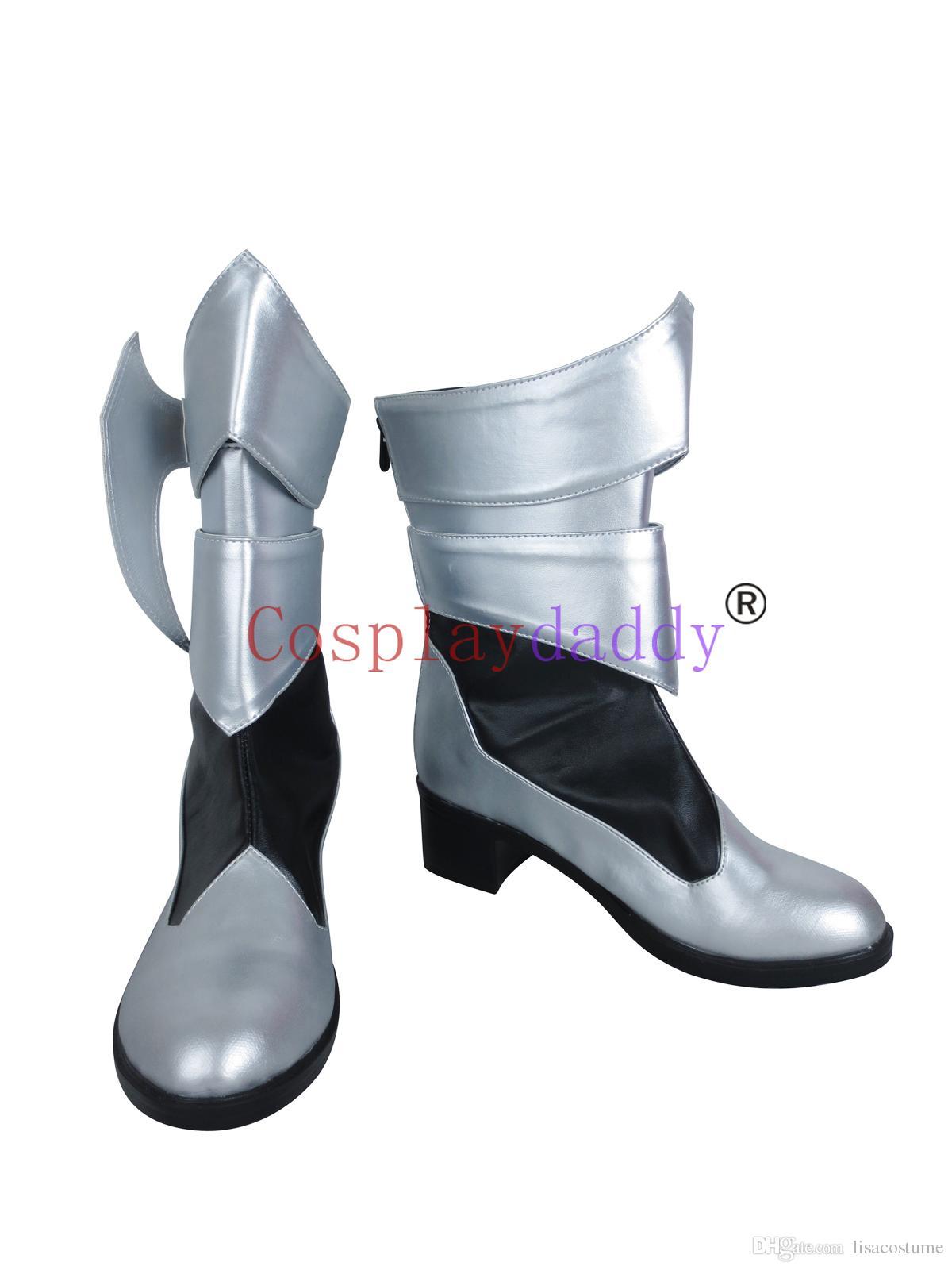 Kingdom Hearts Doğum Uyku tarafından Aqua Uzun Cosplay Ayakkabı Çizme C006