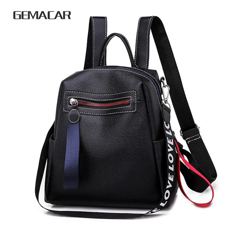 New casual backpack classic design ladies backpack fashion trend PU leather shoulder bag girls cute bag mobile