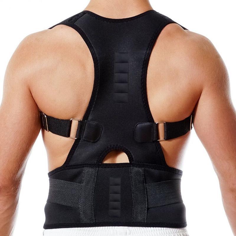 a9735b7977 Male Female Adjustable Magnetic Posture Corrector Corset Back Brace Back  Belt Lumbar Support Straight Corrector Shoulder Brace For Posture Shoulder  Posture ...