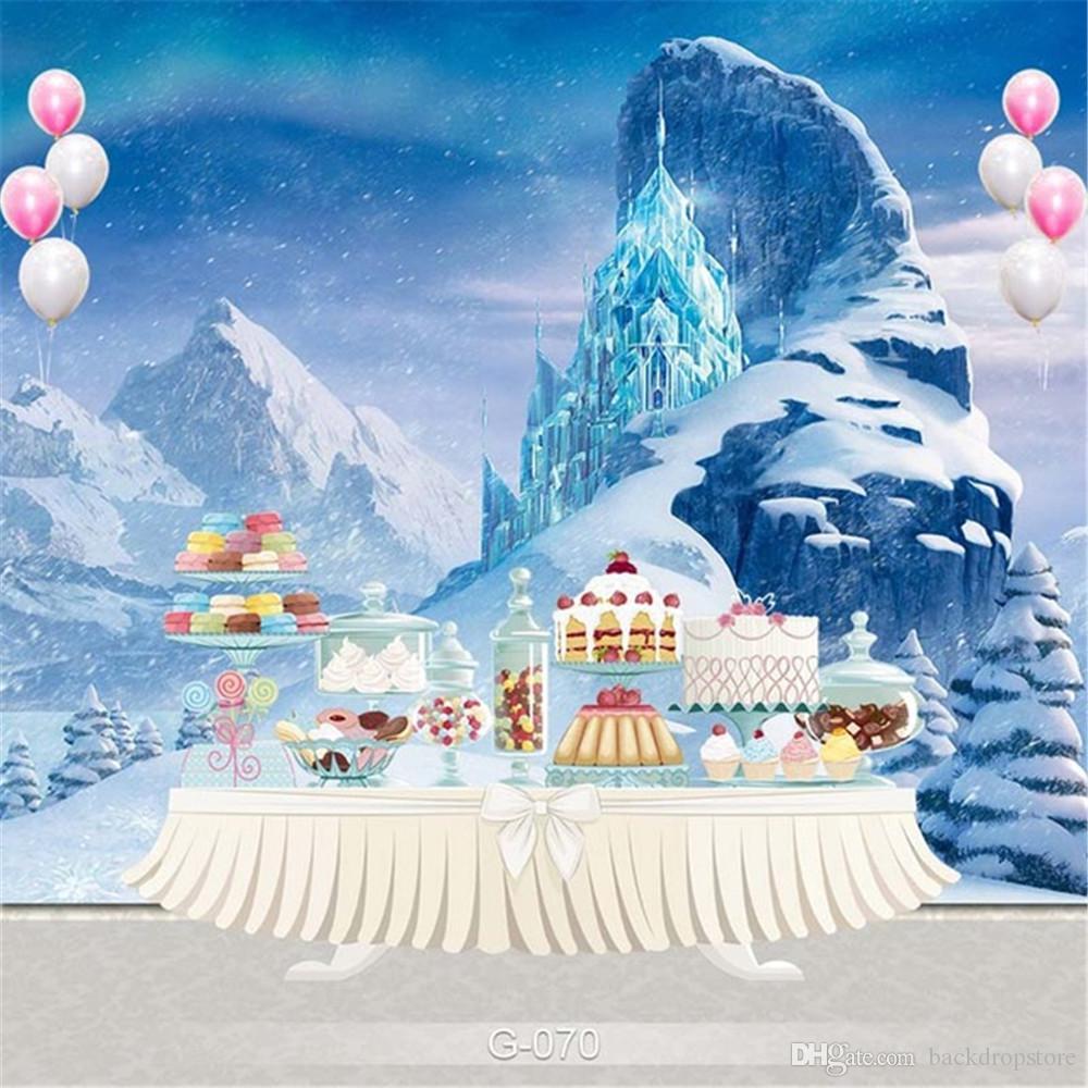 Grosshandel Schnee Berge Gefrorenen Palast Fotografie Kulisse