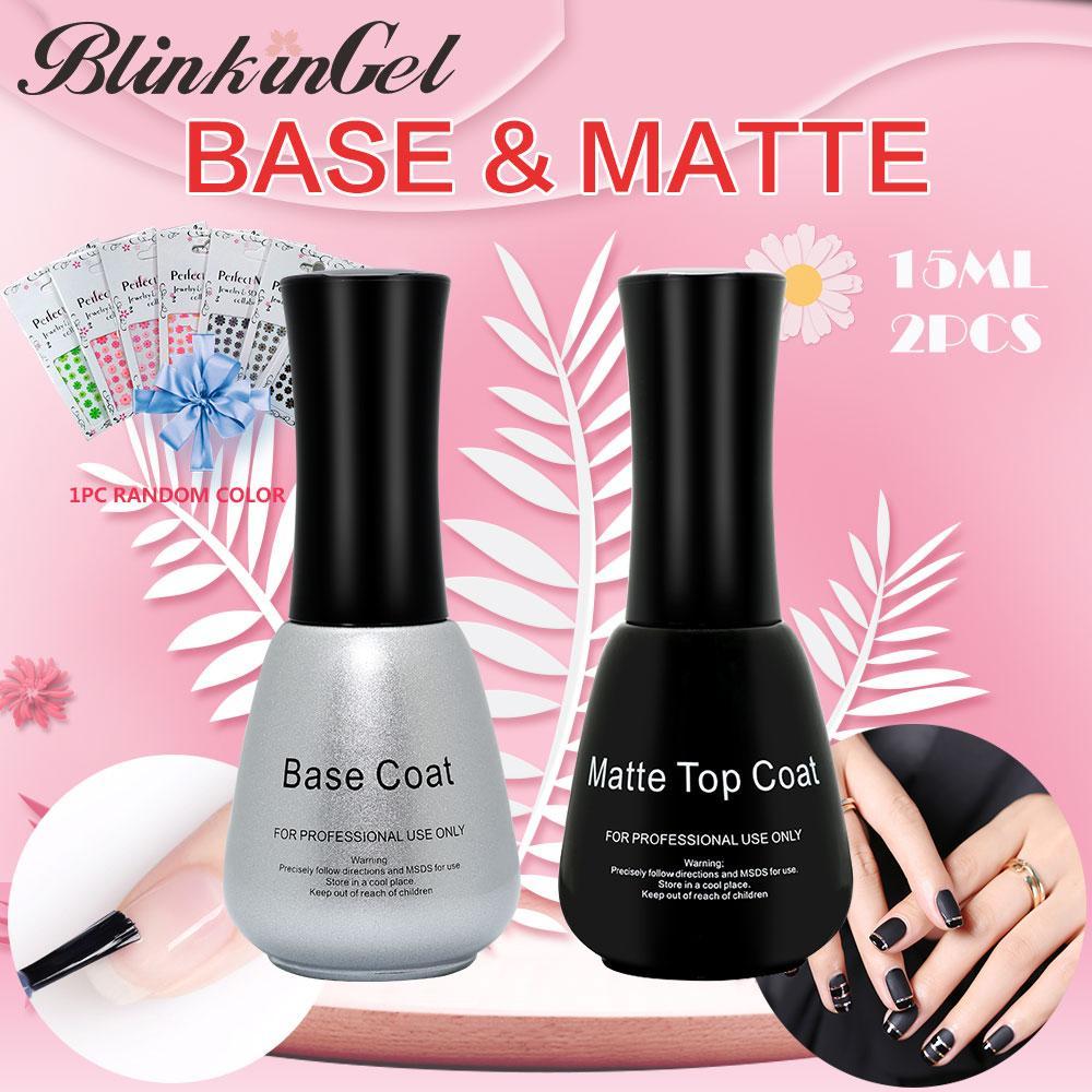 BlinkinGel Matte Nail Polish Top Coat Nail Mineral Top And Base Gel ...