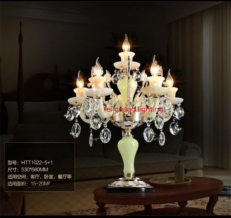 Avrupa tarzı oturma odası kristal lamba, modern minimalist yatak odası çalışma yatak başlığı çinko alaşımı yaratıcı led kristal masa lambası