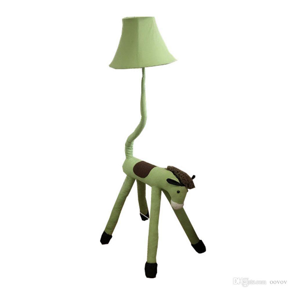Stehlampen Kinderzimmer   Grosshandel Oovov Green Horse Kinder Zimmer Stoff Stehleuchte