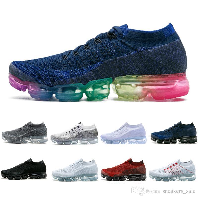 best service da2d2 17234 Nike Air Vapormax 1.0 Lujo VM 1.0 Hombres Mujeres Blanco Gris Negro Rojo  Azul Zapatos Para Correr Al Aire Libre Diseñador Clásico Jogging Tenis  Deportes ...