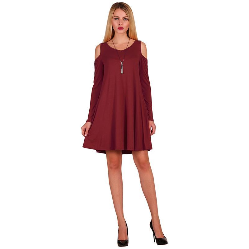 936dfaf674 Spring Summer Dress For Women Fashion Off Shoulder A Line Dress Casual  Loose Beach Dress Long Sleeve Blouse White Tops Vestidos Black Dresses On  Sale Knee ...