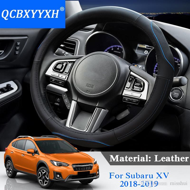 Qcbxyyyyxh стайлинга автомобилей рулевое покрытие для Subaru XV 2018-2019 рулевое колесо охватывает кожаный руль интерьер аксессуары