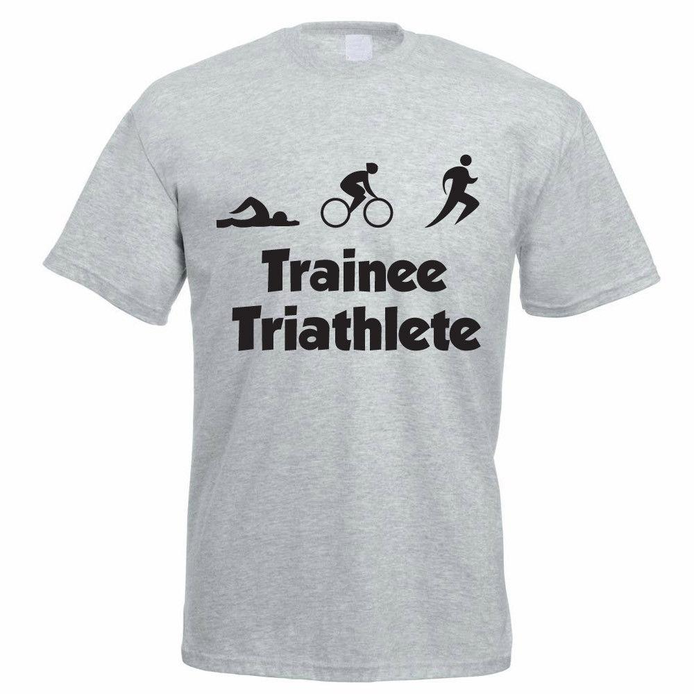 3b0288a7 Triathlon T Shirt TRAINEE TRIATHLETE Swim / Bike / Run / Tri Funny Men'S Tee  Daily Tee Shirts Coolest Shirt From Unteefeatedapparel, $11.42| DHgate.Com