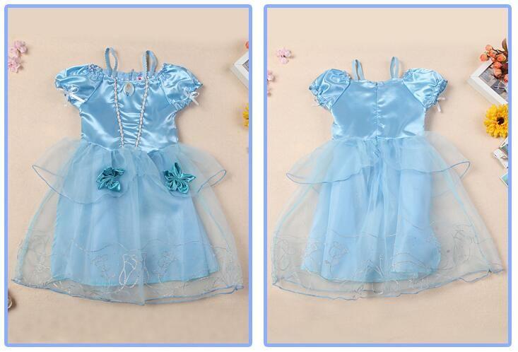 Prenses Bebek Kız Elbise 2018 Yeni Moda yaz Elbise Çocuklar Cindrella Karikatür Cosplay Kostüm Childern için Özel Günler Giyim