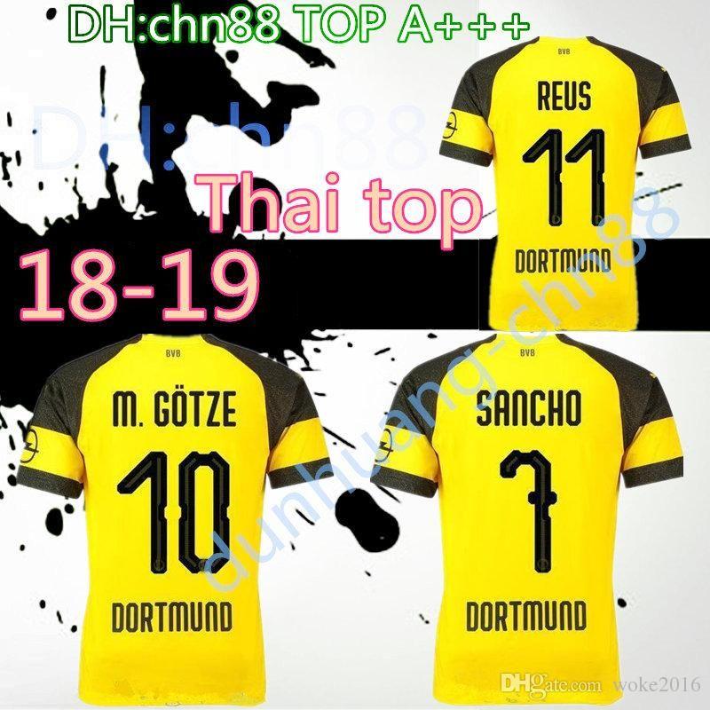 c1a978677 2018 2019 Reus Soccer Jersey SANCHO 18 19 BATSHUAYI PHILIPP INTERNATIONAL  REUS KAGAWA AUBAMEYANG YARMOLENKO Football Shirts CUSTOMIZE Wholesale Cheap  Best ...