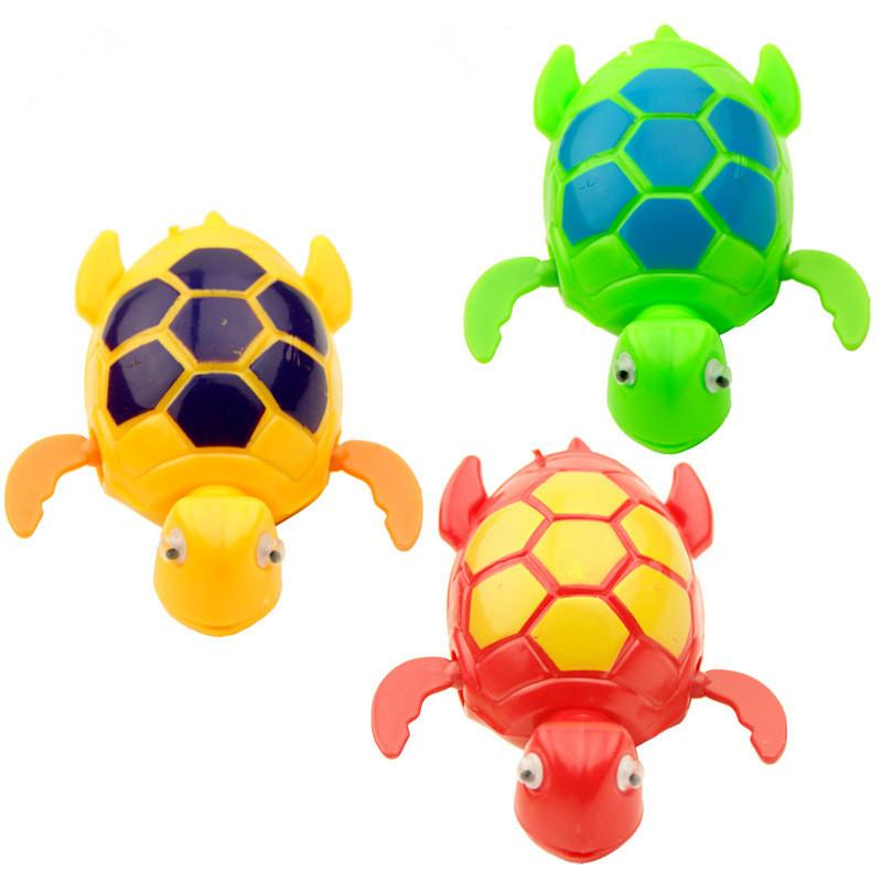 cute tortoise baby bath toy Hot Sale 2017 New Wind up Swimming Turtle Turtles Pool Animal Toy For Baby boy girls Kids Bath Time