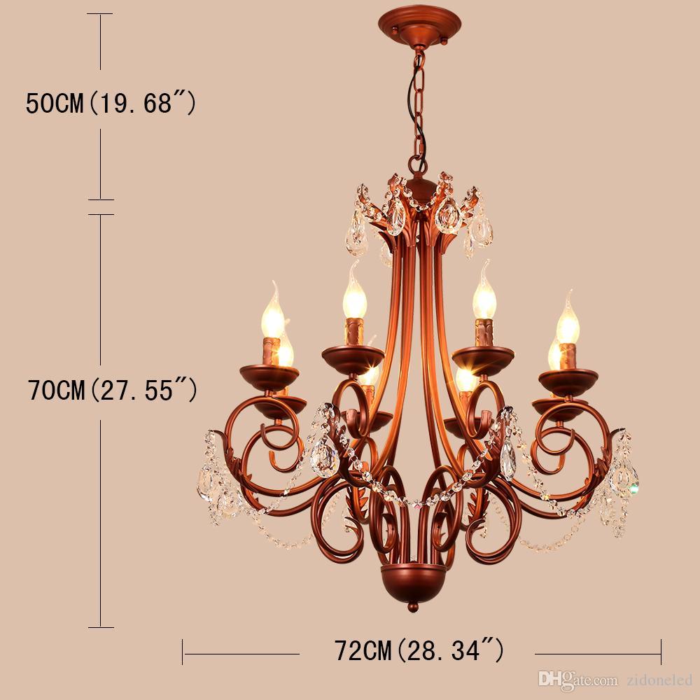 American classical iron crystal pendant lights K9 crystal chandelier lighting fixtures purple bronze chandeliers home decor 5/6/8 heads