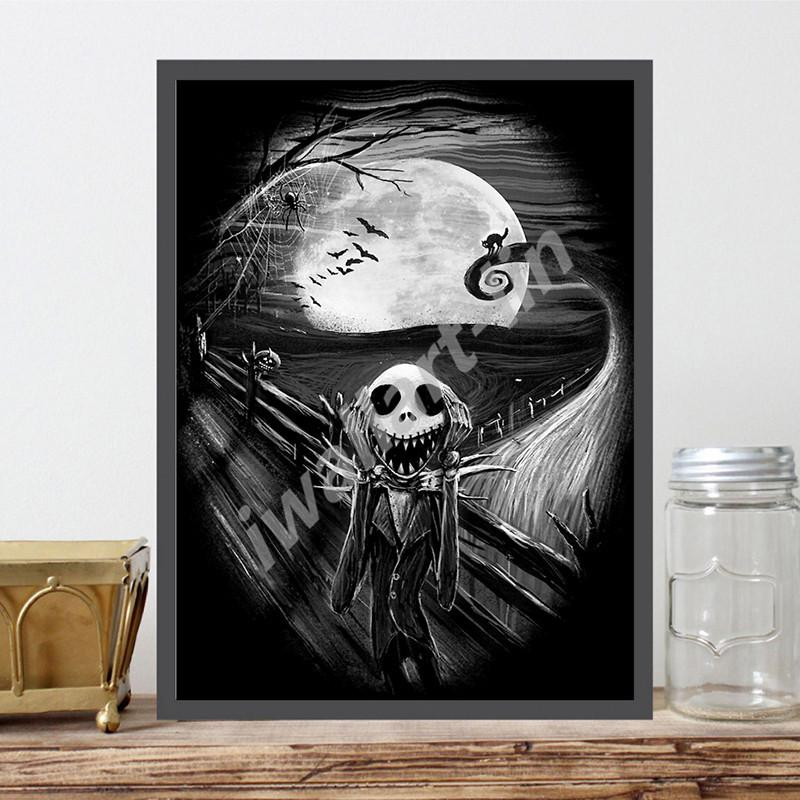 The Nightmare Before Christmas Wallpapers HD Posters Canvas Painting Oil Framed Wall Art Print Pictures For Living Room Home Decoracion