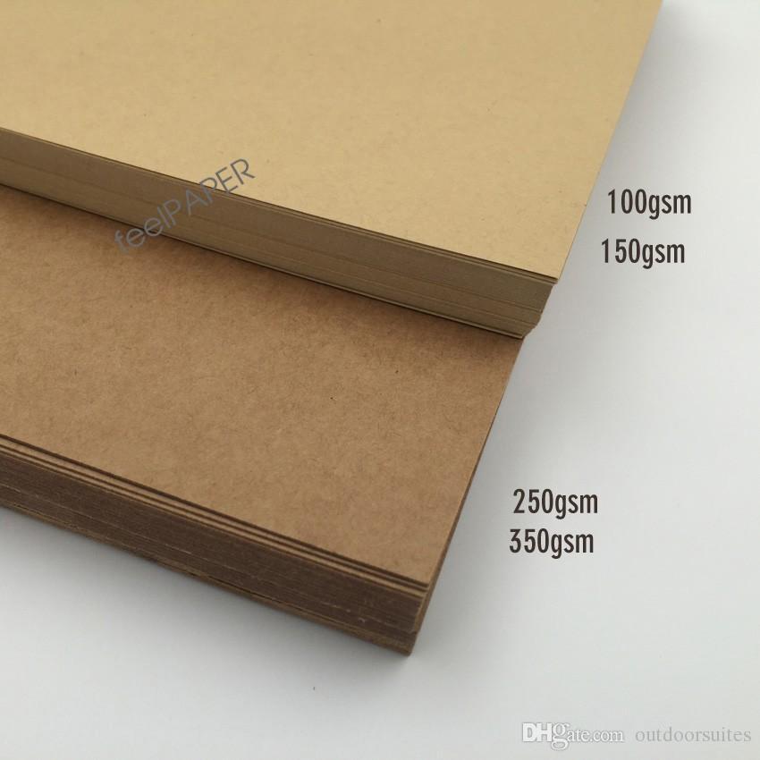 Brown A4 Kraft Paper Paperboard Cardboard Blank Craft Card Paper 100gsm 150gsm 250gsm 350gsm Packing Paper