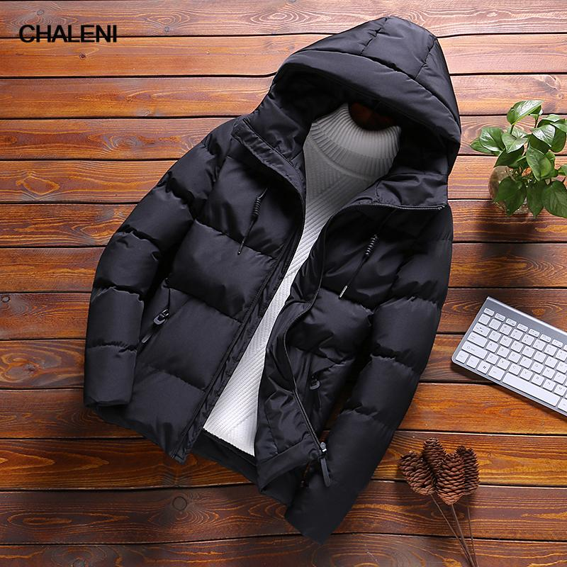 19bcee27221c Winter Male Slim Fit Casual Cotton Coats New Brand Korean Style ...