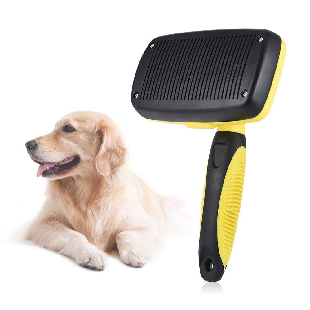 Dog Brush Self Cleaning Slicker Pet Brush Shedding Grooming Tools
