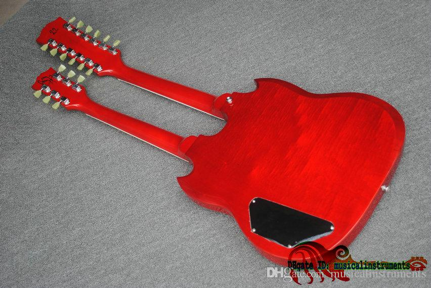 Red 6/12 Strings Double Neck Electric Guitar 1275 China Guitars New Arrival Wholesale
