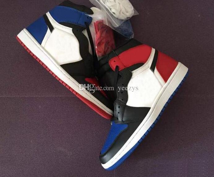 Scarpe da basket da uomo All Star Royal di alta qualità 1s Top 3 allevate in Italia 1 Top 3 OG Away Mandarin Duck Sneakers