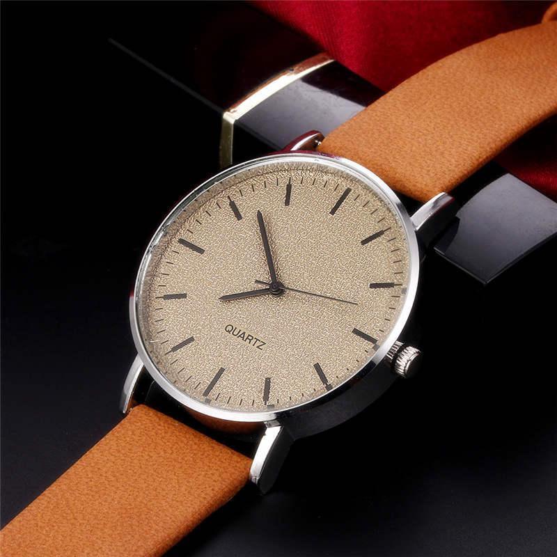 5a2ee73aa47 ... Relógio Dos Homens De Luxo CTPOR Design Marca Nenhum Logotipo Dial Homens  Relógio De Pulso De Couro De Negócios Masculino Relógios À Prova D  Água ...