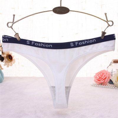 Womens Underwear Sexy Pure Cotton Letters Low Waist Briefs Eur Style Pnaties M L