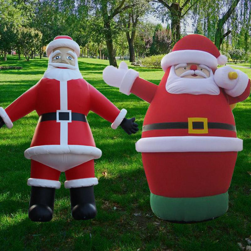 6f10d53f419f7 Hot 4m High Santa Claus Inflatable for Christmas day Decoration Make ...