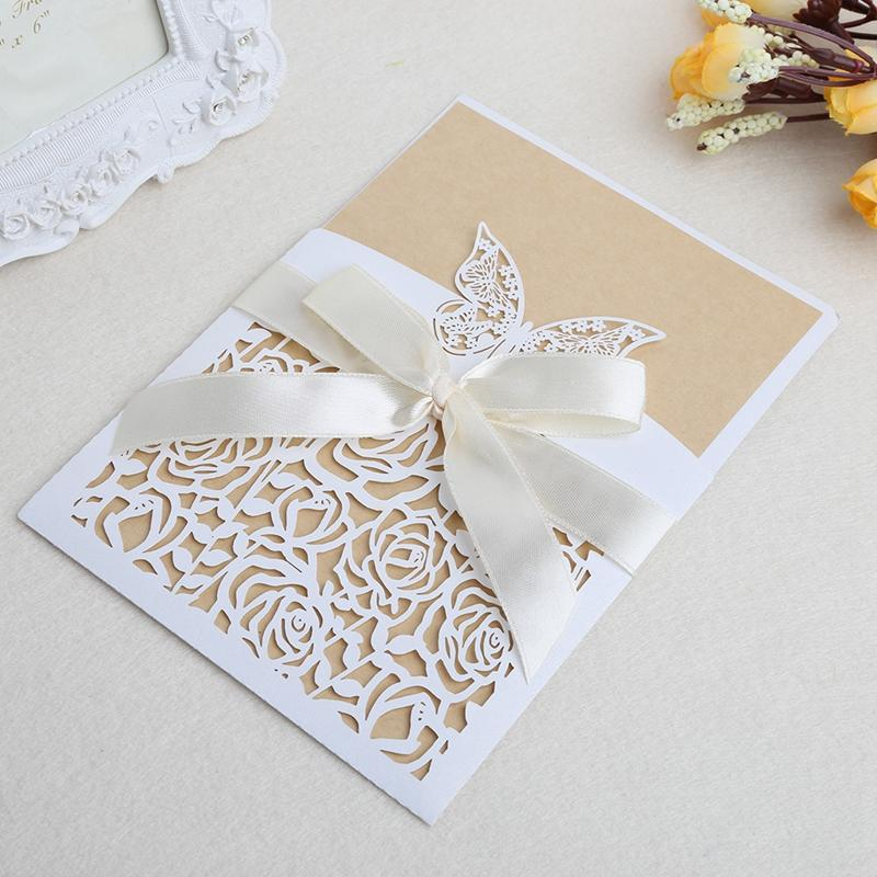 Romantic Wedding Party Invitation Cards Kit With Envelopes Seals ...