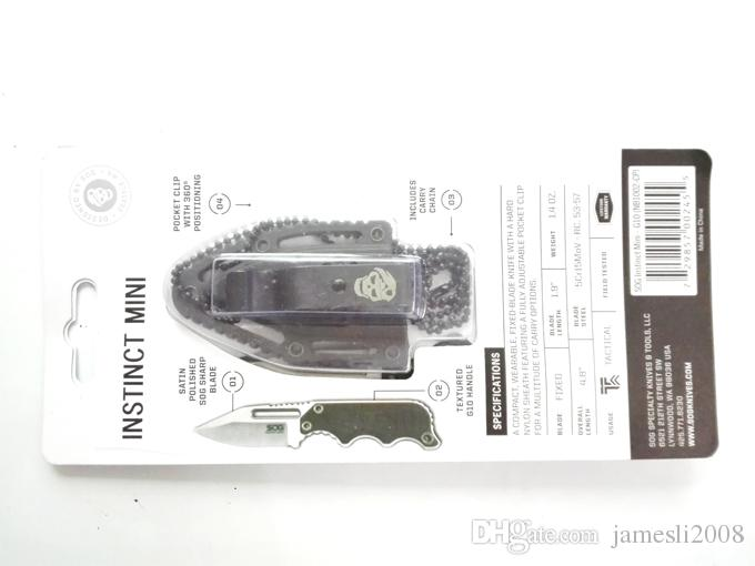 Образец Sog ожерелье выживания нож 58-60HRC 5CR15MOV сталь сатин лезвия Открытый Охота Тактические ножи Отдых Открытый EDC Инструменты