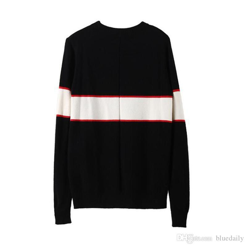 Black designer sweaters for men fashion long sleeve letter print couple sweaters autumn loose pullover sweaters for women