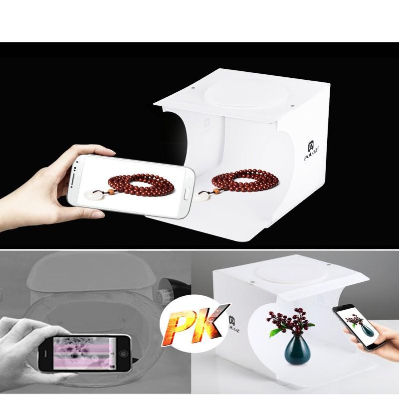 Meistverkaufte Mini Foto Studio Box Fotografie Kulisse Eingebaute Licht Foto Box Kleine Gegenstände Fotografie Box Studio Zubehör Freies dhl