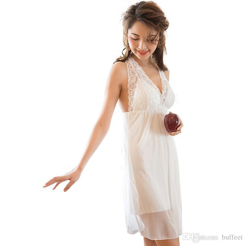 42274739e80 2018 New Shirt Sleep Nightgowns Sleepwear Nightdress Women s Sexy ...