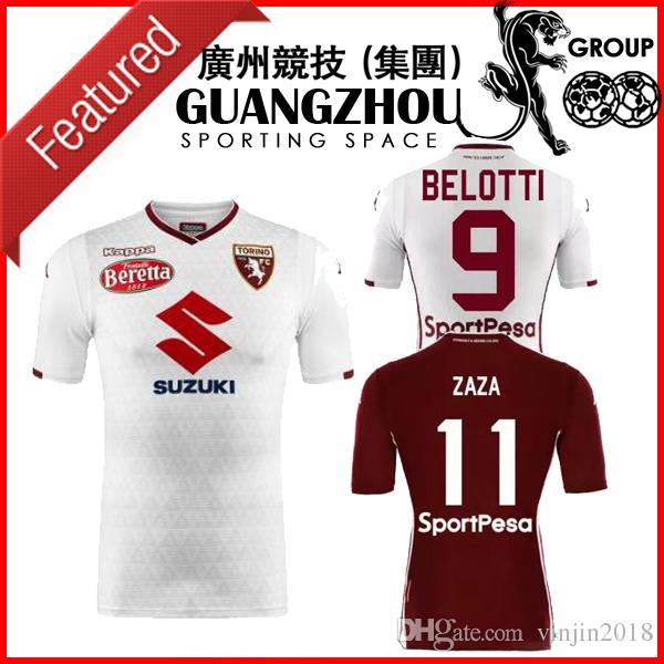 0aeea664df1d8 18 19 Torino Soccer Jerseys Home Belotti Zaza Falque Koulou Baselli ...