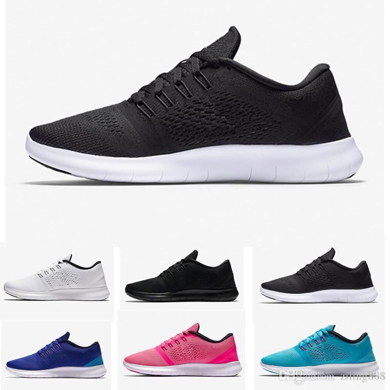 size 40 3cc15 0fe7e Acheter Nike Flyknit Free Run 2.0 3.0 4.0 5.0 Free Rn Avec Box Nouvelle  Rainbow Epic React Froth Tisser Arc En Ciel Hommes Et Femmes Chaussures De  Course, ...