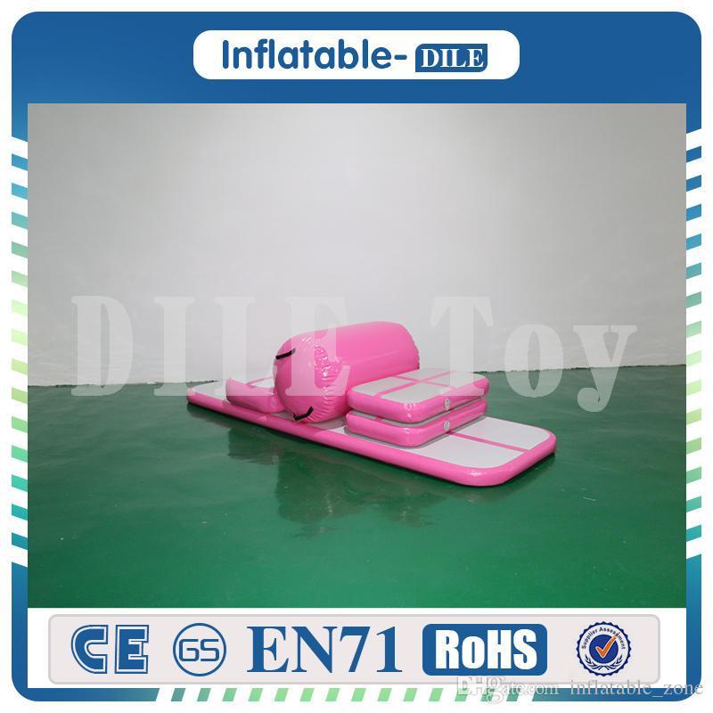 El envío gratuito Un Conjunto colchoneta de gimnasia Pista de aire inflable colchoneta Mat Gimnasio Aire bajas en venta