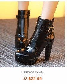 KARINLUNA 2018 large Size 34-43 wholesale women winter boots female platform shoes woman square heels martin boots