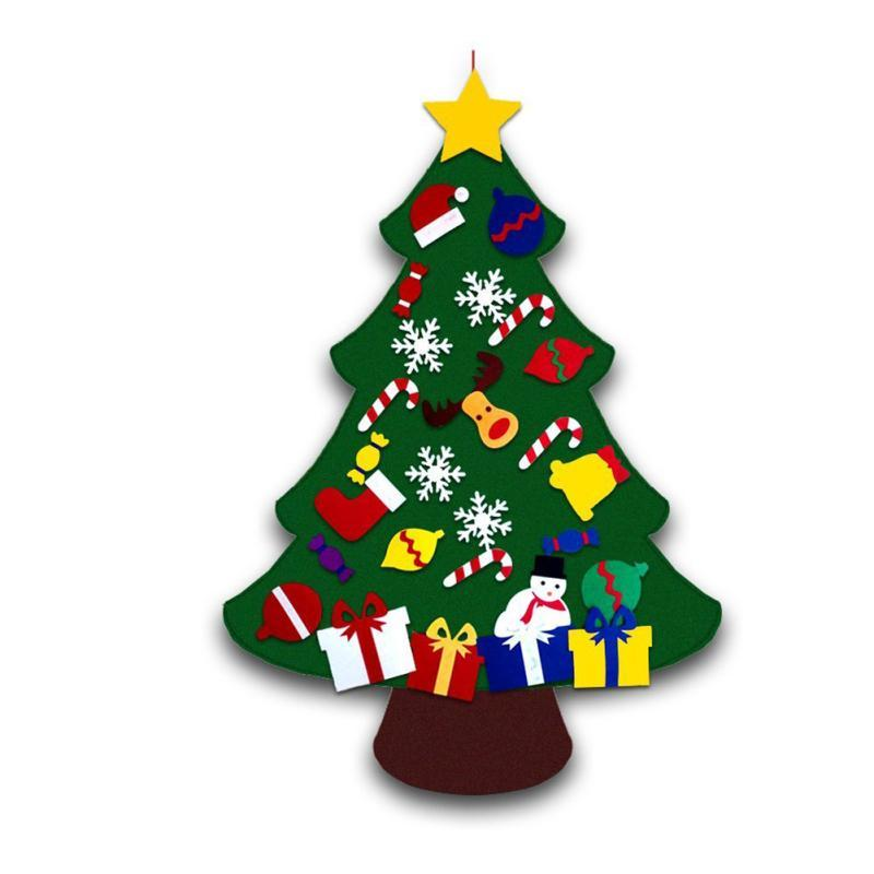 Kids DIY Felt Christmas Tree With Ornaments Kid\'S Christmas Toys ...
