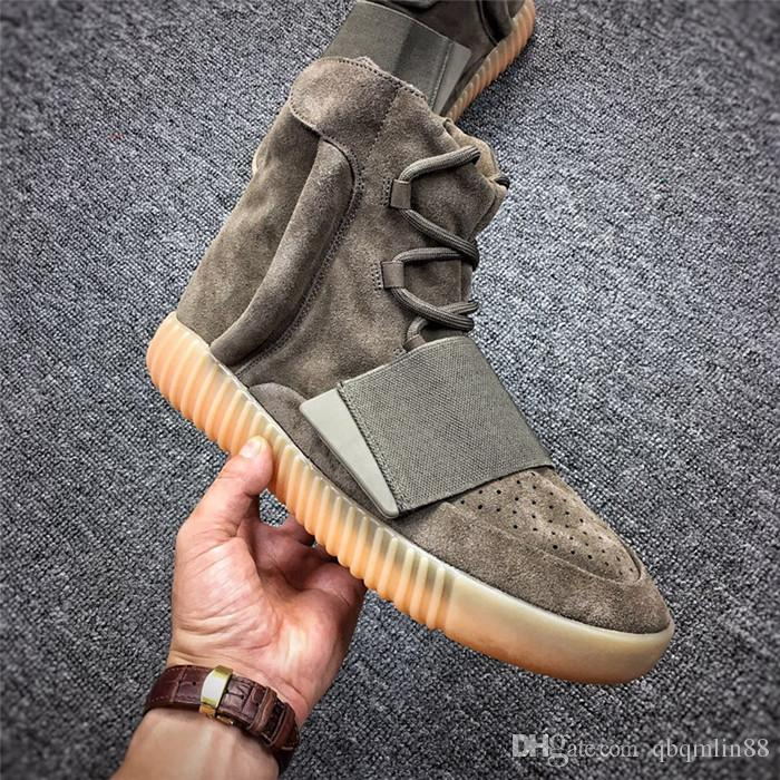2018 HOT 750 Light Grey Gum Glow In The Dark Kanye West Shoes Basketball Shoes Sneakers 750 Men Sports Casual Sneakers