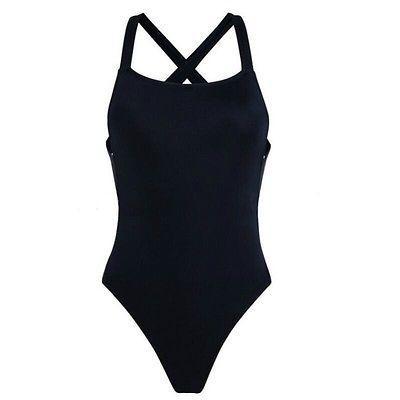Kırmızı Siyah çapraz geri bodysuit Monokini Seksi tek parça mayo Kadınlar için Backless Mayo yüzme suit mayo 2016