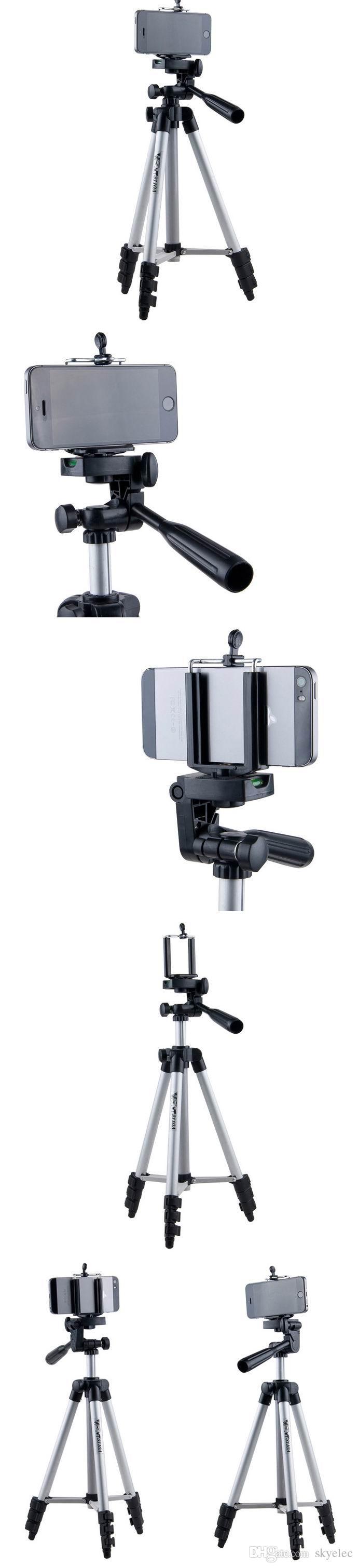 삼각대 휴대 전화 삼각대 알루미늄 합금 야간 조명 라이트 망원경 카메라 삼각대 사진 범용 마이크로 싱글 브래킷