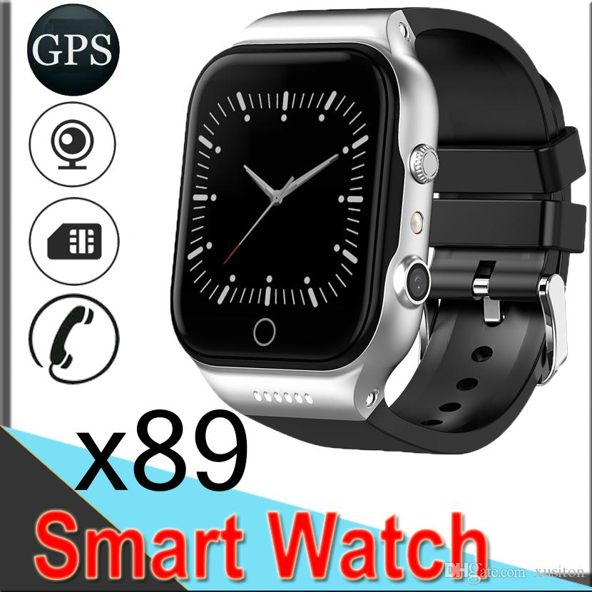 c6207ab33a0a8e X89 Smart Watches 1.54inch GPS WIFI Android5.1 Dual Core Bluetooth Camera  512MB+8GB 3G Call Phone with Battery 600MAH 50 Packs EXCTX89
