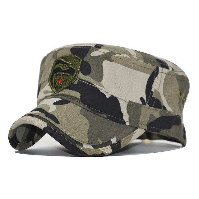 7ad9744471607 Compre Camuflaje Del Ejército Top Flat Mens Women Gorras De Béisbol  Sombrero Sombreros Casuales Ajustables Para Hombres Snapback Cadet Patrol A   9.6 Del ...